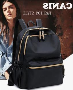 Fashion Women Black Small Backpack Travel Oxford Cloth Handb