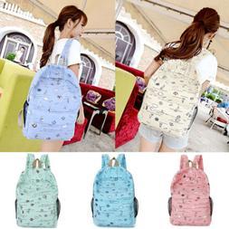Fashion Women Canvas School Bag Girl Cute Backpack Travel Ru