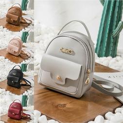 Fashion Women Girls Mini Travel Leather Rucksack Backpack Sc