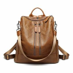 Fashion Women Ladies Real Soft Leather Shoulder Bags Backpac