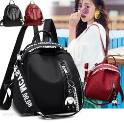 Fashion Women Lady School Leather Girls Backpack Travel Hand