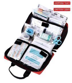 First Kit Aid 115 Piece Emergency Bag Medical Trauma Surviva