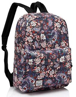 Floral Backpack for Women,Vaschy Fashion Canvas 15.6 inch La