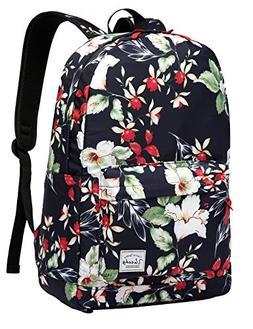 Floral Backpack for Women,VASCHY Fashion College Bookbag Stu