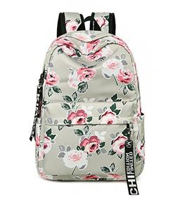 Leaper Fashion Floral Laptop Backpack Women Daypack Travel B