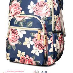 Leaper Floral School Backpack for Girls Travel Bag Bookbag S