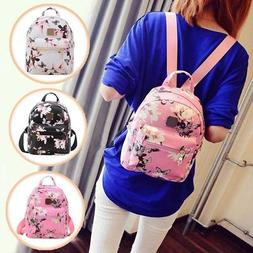 Flower Daffodils Women Girls Leather Backpacks Mini Rucksack