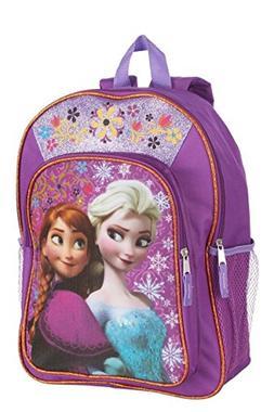 "Disney Frozen Anna & Elsa Girls Sparkle Backpack - 16"""