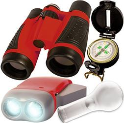 Kids binoculars - Outdoor adventure set - compact folding bi