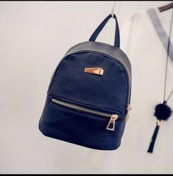 Girl Bag PU Leather Backpack Mini Travel School Backpack Pur