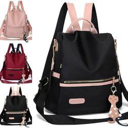 Girls Anti-Theft Backpack Rucksack Handbags School Travel Fa