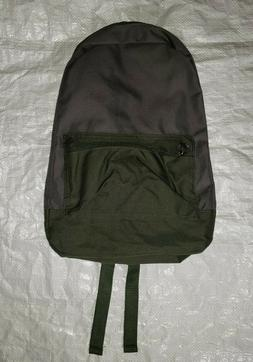Old Navy Gray & Green Polyester Lightweight Backpack New