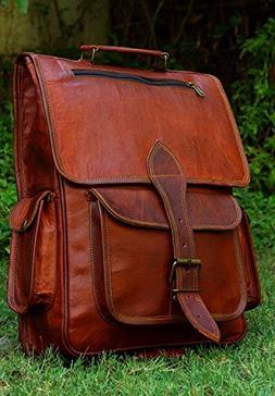 Shams Leather Handmade Genuine Leather Backpack Laptop Bag f