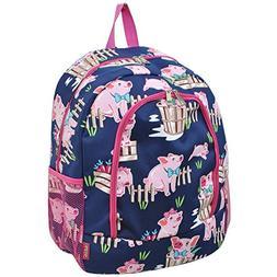 Happy Pig Town Print NGIL Canvas School Backpack