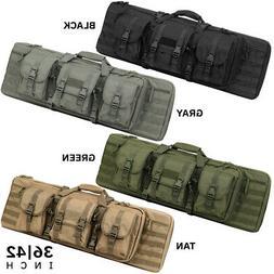 Heavy Duty 600D Double Carbine Rifle Bag Soft Gun Case Hunti