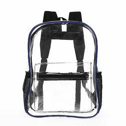 Heavy Duty Clear Transparent Backpack See Through Book-bag