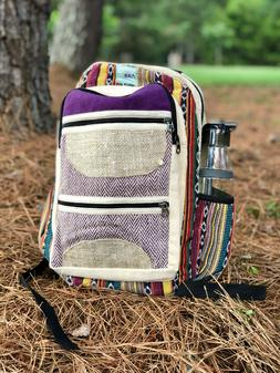 Handmade Himalayan Hemp Backpack |Hemp Bag
