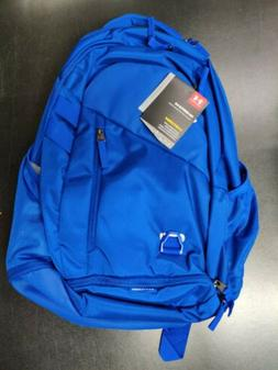 Under Armour Hustle 4.0 Backpack Royal Blue Silver NWT $55 M