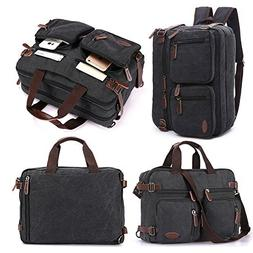 Laptop Bag, Vintage Hybrid Backpack Messenger Bag/Convertibl