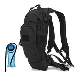 Tactical Hydration Pack Backpack with 2.5L Water Bladder,Out
