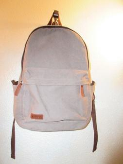 Ibagbar~Canvas Backpack Rucksack Laptop Bag Travel~Padded~Gr