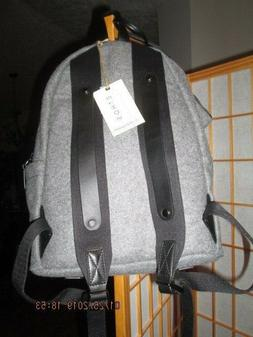 Sherpani Indie Grey Wool Backpack with Black Leather Trim~Pa