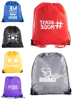 Inspirational Gym quote bags, Gym Drawstring Backpacks Bags