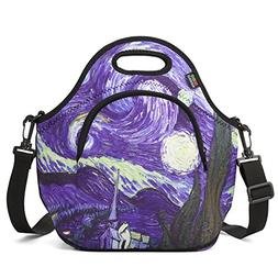 Insulated Lunch Bag, Nuovoware Neoprene Lunch Tote Reusable
