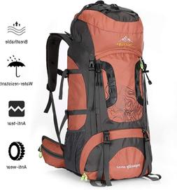 Internal Frame 70L Backpack Water-Resistant Hiking Daypack B