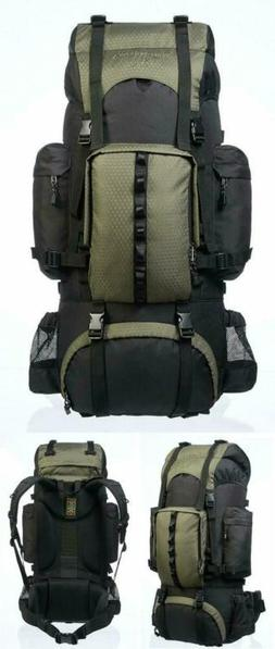 Internal Frame Hiking Backpack Rainfly with Padded Shoulder