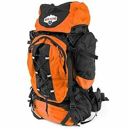 70L Internal Frame Hiking and Camping Daypack Backpack with