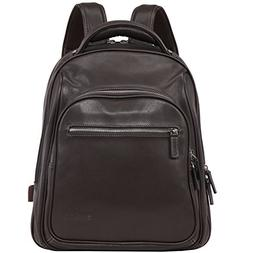 Banuce Italian Pebble Leather Padded Business Backpack Trave