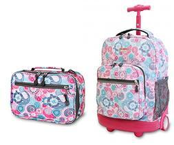 J World Blue Raspberry Sunrise Roller Backpack Back Pack and