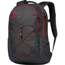 The North Face Jester Backpack, TNF Dark Grey/TNF Red New
