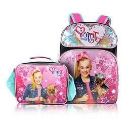 KBNL Jojo Siwa Backpack + 3D Lunch Box Back to School Bundle
