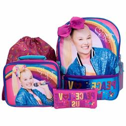 JOJO SIWA Pink 5 Piece Backpack Lunch Bag Sling Sack Gadget