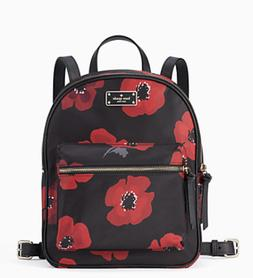 Kate Spade Wilson Road Poppy Small Bradley Backpack Black Mu