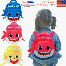 Kids Baby Shark Backpack Plush Cute Cartoon Bag For Children