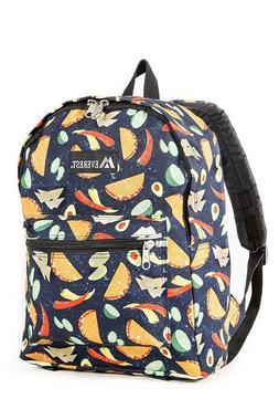Everest Kids' Basic Pattern Midsize Backpack, Tacos!, One Si