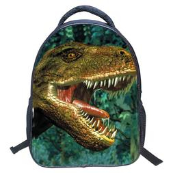 Kids Boys Girls 3D Print Dinosaur School Backpack Bag Should