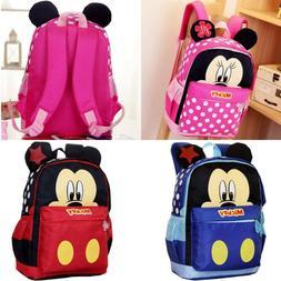 Kids Cartoon School Bags Cute Mickey Mouse Printed Backpacks