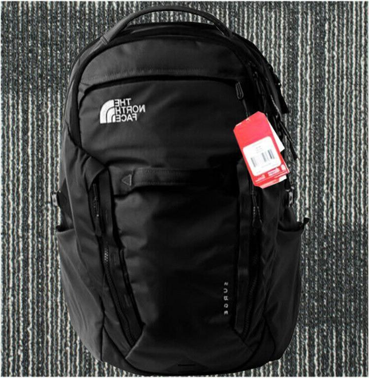 100%Full Tag North Face's Backpack Men's Surge 31L Black TNF