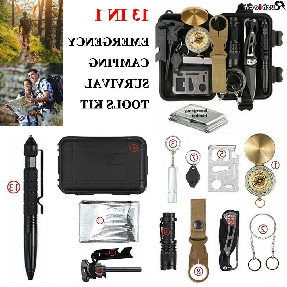 13 in 1 outdoor emergency survival gear