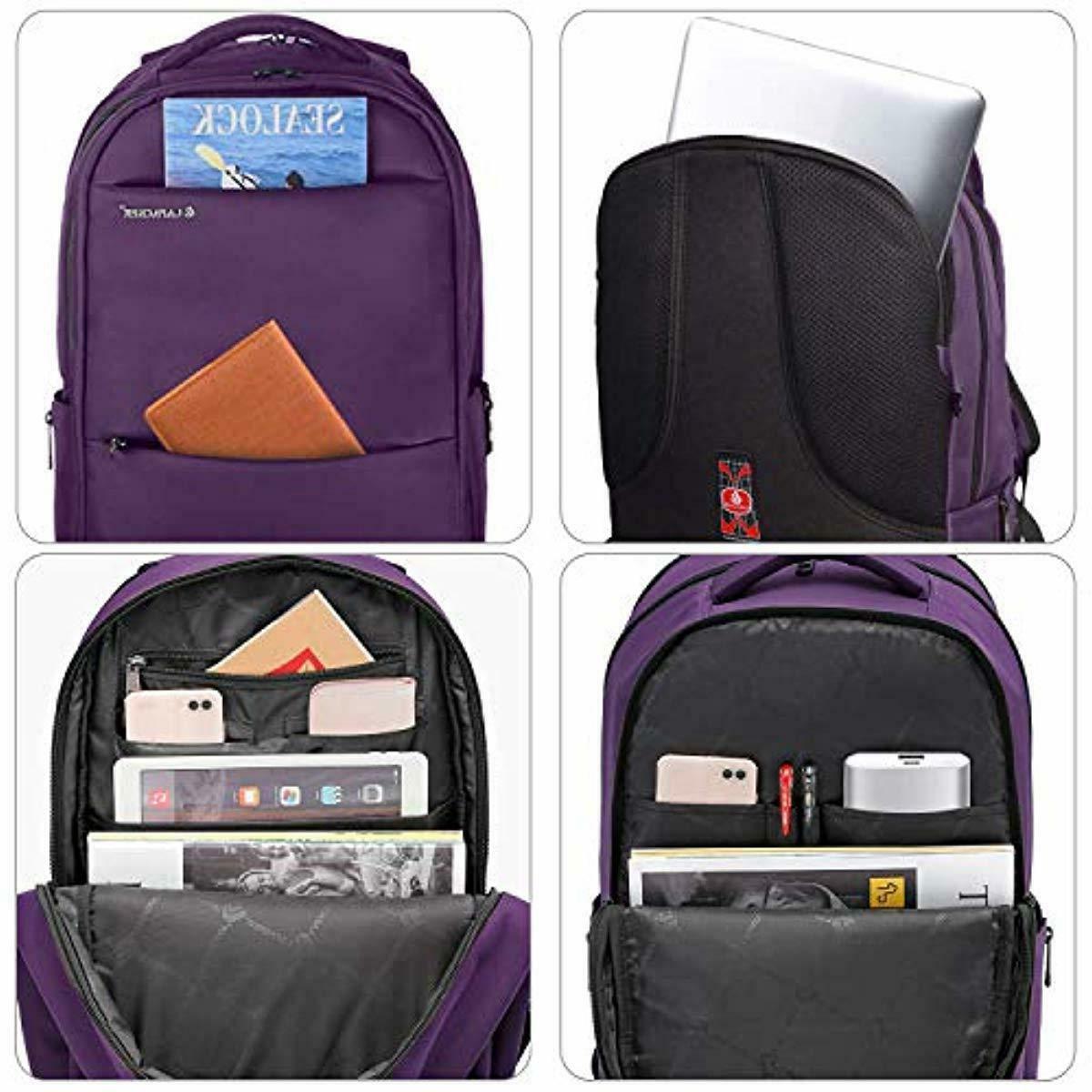 LAPACKER 15.6-17 inch Laptop Backpacks for Women Mens Water Resistant
