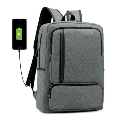 "15.6"" Men Women Laptop Backpack Travel + Port"