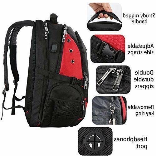 YOREPEK Inch Backpack Large Backpacks Port