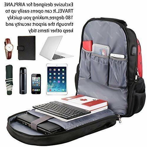 YOREPEK 17 Backpack Extra Backpacks w USB Port
