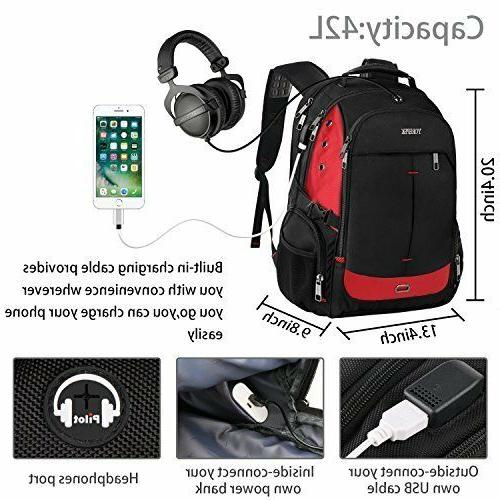 YOREPEK Inch Laptop Backpack Extra Backpacks w Port