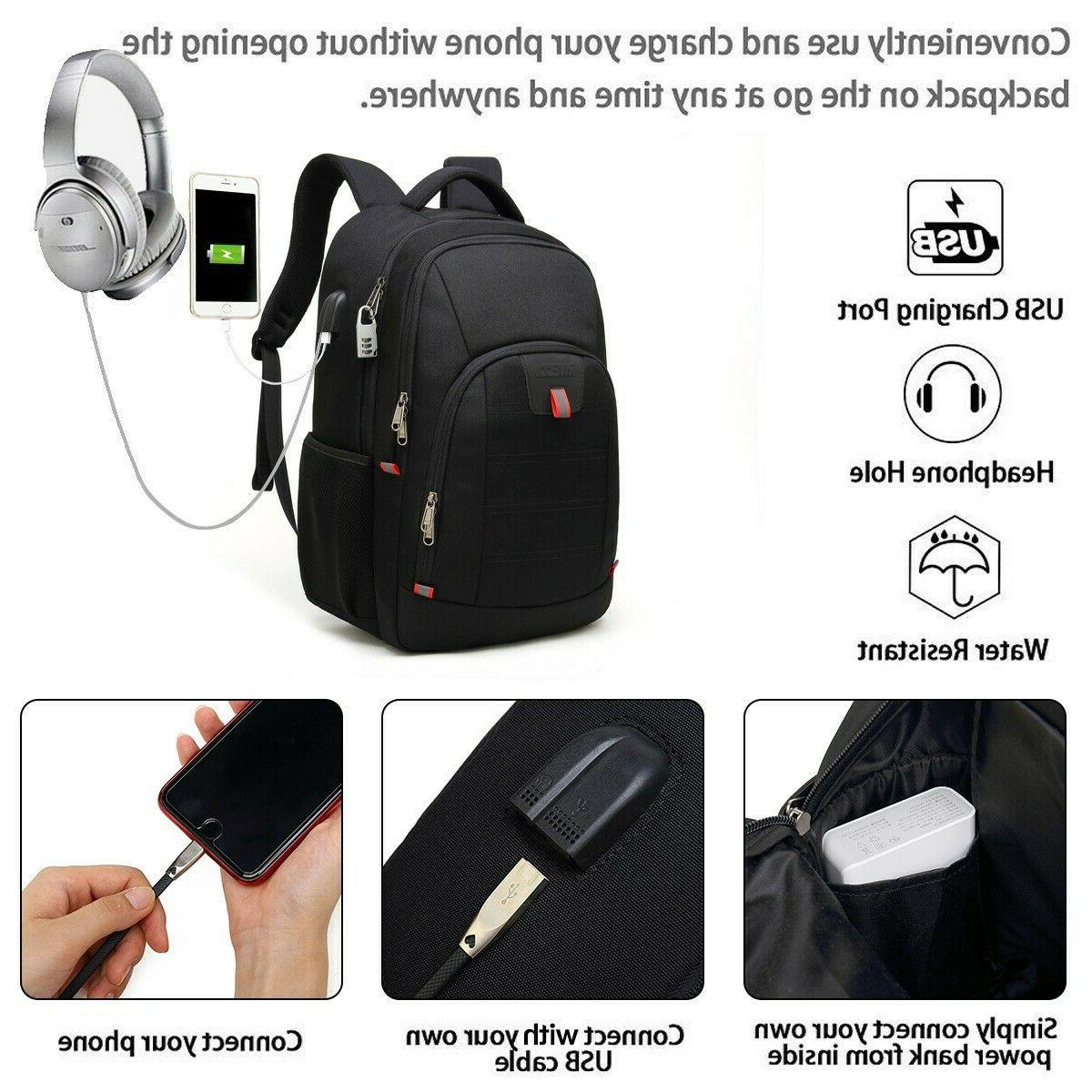 19 or Travel Laptop Backpack USB inch Laptop
