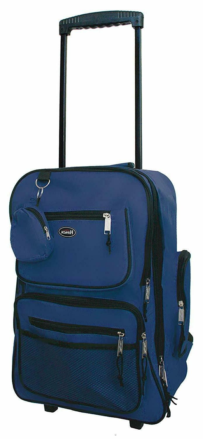 19 rolling backpack carry on luggage wheeled